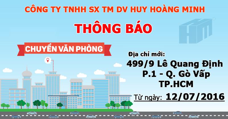 [Thông báo] Công ty Huy Hoàng Minh chuyển văn phòng giao dịch